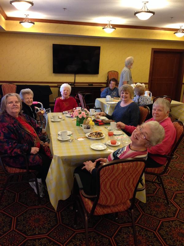 Think Spring Tea Party, Villas of Oak Park Senior Living, Assisted Living, Memory Care