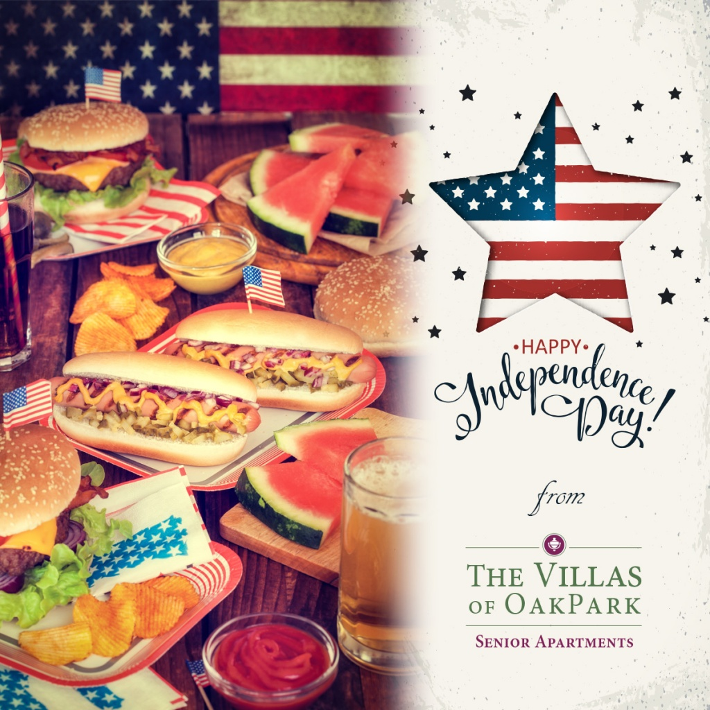 Happy Fourth of July, Villas of Oak Park Senior Living, Assisted Living, Memory Care