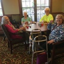 Alzheimer's Fundraiser-Villas of Oak Park Senior Living-ladies sitting around a table