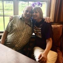 Alzheimers Fundraiser-Oak Park Senior Living-cute photo of tenant and staff member