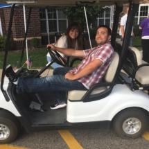 Alzheimers Fundraiser-Oak Park Senior Living-golf cart ride