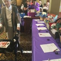 Alzheimers Fundraiser-Oak Park Senior Living-silent auction table