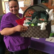 Alzheimers Fundraiser-Oak Park Senior Living-winner of silent auction basket