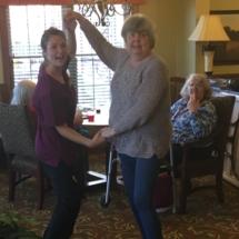 Alzheimer's Fundraiser-Villas of Oak Park Senior Living-women dancing
