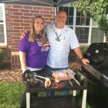 Alzheimer's Fundraiser-Villas of Oak Park Senior Living-grilling