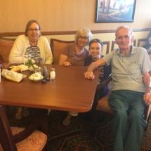 Alzheimers Fundraiser-Oak Park Senior Living-family relaxing