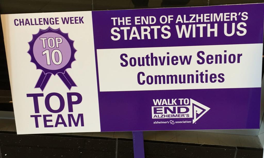 2017 Alzheimer's Walk-Southview Senior Communities-Top Team