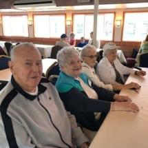 Stillwater Boat Ride-Villas of Oak Park-group awaiting the buffet