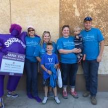 2017 Walk to End Alzheimer's Recap-Villas of Oak Park-Family shot with Southview mascot