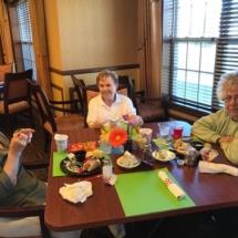 60's Themed Picnic-Villas of Oak Park-Ladies enjoying food