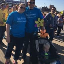 Our Team at 2017 Alzheimer's Walk-Villas of Oak Park-family posing at the Alzheimer's walk