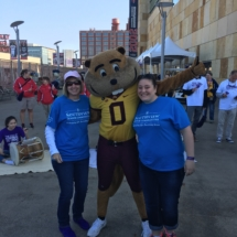 Our Team at 2017 Alzheimer's Walk-Villas of Oak Park-taking a picture with the Gopher mascot