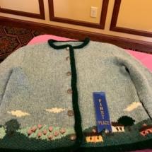 State Fair Celebration-Villas of Oak Park-blue hand knit sweater
