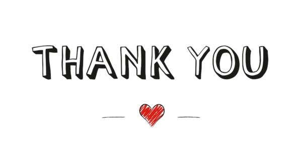 Heartwarming thank you notes.